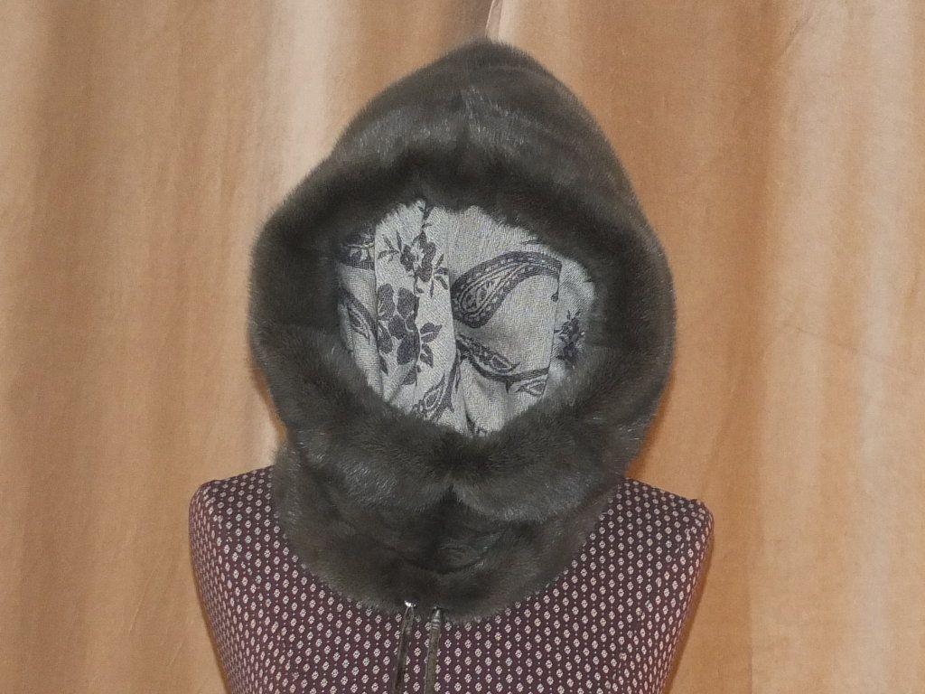 Пошив капора, капюшона отдельно из меха норки.