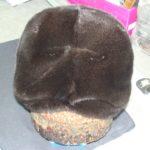 Женская шапка чалма из чёрной норки
